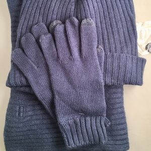Thirty Five Kent Rabbit Hair Hat Scarf Gloves Set
